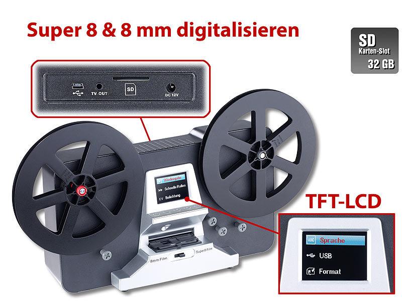 somikon hd xl film scanner digitalisierer f r super 8 und 8 mm stand alone. Black Bedroom Furniture Sets. Home Design Ideas