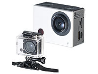 Somikon Full-HD-Action-Cam DV-850.WiFi mit Farb-Display, Fernbedienung; Action-Cams HD Action-Cams HD Action-Cams HD Action-Cams HD