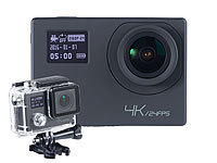Somikon 4K-Action-Cam für UHD-Videos, 2 Displays, WLAN, 16MP-Sony-Sensor IP68; Action-Cams HD Action-Cams HD Action-Cams HD