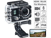 Somikon Einsteiger-4K-Action-Cam mit 2 Displays, Full HD bei 60 B./Sek., IP68