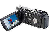 Somikon Full HD Camcorder DV-883.IR mit Infrarot-LED, HDMI 60fps (refurbished); UHD-Action-Cams