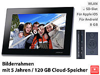 "Somikon Digitaler WLAN Bilderrahmen, 10,1""-IPS-Touchscreen, (refurbished)"