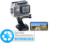 Somikon 4K-Action-Cam, UHD-Videos, 16-MP-Sensor, IP68 (Versandrückläufer); Full-HD-Camcorder mit Touch-Screen und App-Steuerung, Action-Cams HD Full-HD-Camcorder mit Touch-Screen und App-Steuerung, Action-Cams HD