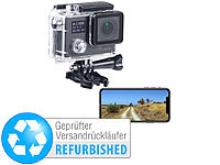 Somikon 4K-Action-Cam für UHD-Videos, 2 Displays, 16-MP-Sony-Sensor (ref.); WLAN-HD-Endoskopkameras für iOS- & Android-Smartphones, Full-HD-Camcorder mit Touch-Screen und App-SteuerungAction-Cams HD WLAN-HD-Endoskopkameras für iOS- & Android-Smartphones, Full-HD-Camcorder mit Touch-Screen und App-SteuerungAction-Cams HD